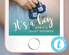 Baby Shower Snapchat Geofilter EDITABLE TEMPLATE Party