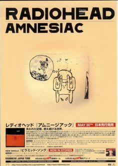 Radiohead: Amnesiac Promo Flyer (Japanese)