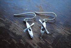 Sterling Silver Kayak Earrings