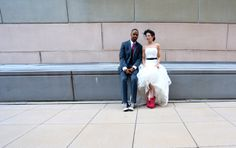 Real Wedding: Kathleen & James: Cold feet weren't an option for these two shoe enthusiasts, who tied the knot in standout kicks.