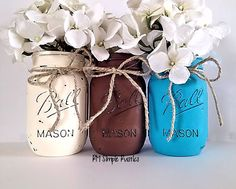 Mason jar home decor housewares nursery decor by RMSimpleRustics.etsy.com