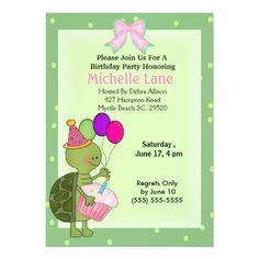 Turtle Birthday Invitation