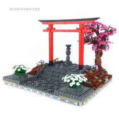 Torii | by did b Lego Bots, Lego Worlds, Lego Models, Lego Building, Table Games, Lego Creations, Backyard Landscaping, Legos, Anime Art