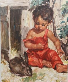 Charles Roka - Olja på Duk (399505527) ᐈ Auktionsbyra på Tradera Paintings, Children, Artwork, Young Children, Boys, Work Of Art, Paint, Auguste Rodin Artwork, Painting Art