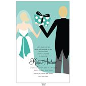 Couples Shower Invitations, Blue Couples, 21111