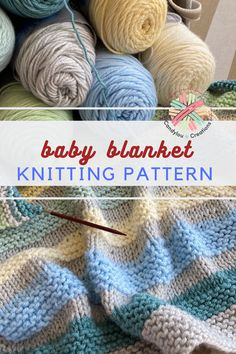 candyloucreations Knitting the Biddeford Baby Blanket In Pastels Knitting Love Knitting Patterns, Easy Knitting, Knitting For Beginners, Baby Patterns, Knitting Ideas, Knitted Afghans, Knitted Baby Blankets, Easy Knit Blanket, Baby Afghans