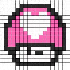 Kacsintós Mario gomba - geek szerelmednek a legjobb jelzés!   Készítsd el - rendelj hozzá díszdobozos gyöngyöket! http:// on.fb.me/1cc0O7O