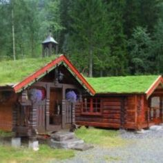 The extra sleeping cabins at the Granly Fishing & Hiking Lodge. www.flyfishingnorway.com Vacation Destinations, Norway, Beautiful Places, To Go, Fishing, Cottage, Tiny Houses, House Styles, Cabins