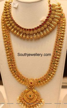 simple neck chain for saree - Google Search
