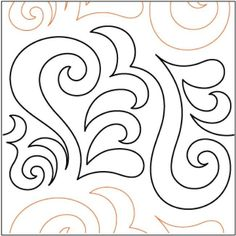 Curly Q Pantograph - Quilting Creations Quilting Stencils, Quilting Templates, Stencil Patterns, Longarm Quilting, Free Motion Quilting, Quilt Patterns, Quilting Ideas, Hand Quilting, Patchwork Tutorial