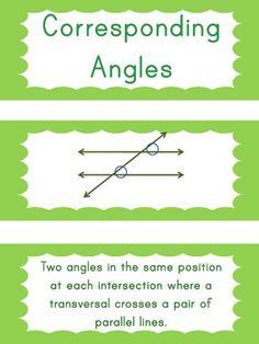 8th Grade Math Common Core Vocabulary Cards