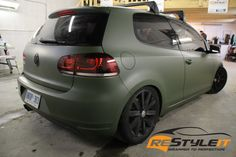 VW MK6 Matte Military Green - Vinyl Car Wrap | Toronto Car Wrap | Restyleit.ca
