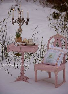 Shabby Table and Chair