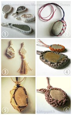 DIY 6 Wrapped Macrame Stone Tutorials. Wrap irregularly shaped objects with macrame.