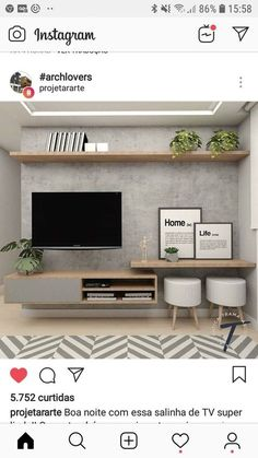 New Living Room Tv Wall Decor Ideas Budget Ideas Living Room Tv Unit, Home Living Room, Interior Design Living Room, Living Room Designs, Living Room Ideas Tv Wall, Apartment Living, Decorating Small Living Room, Small Living Room Ideas With Tv, Small Living Rooms