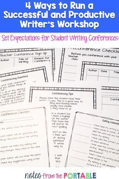 These conference guides will have keep your writer's workshop organized and have your students showing growth and building a love for writing
