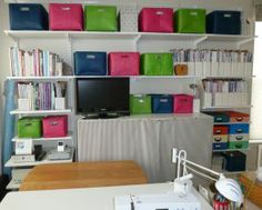 SEW cool! Check out this Sewing Room makeover from Chocolate Cake Quilt Designs!