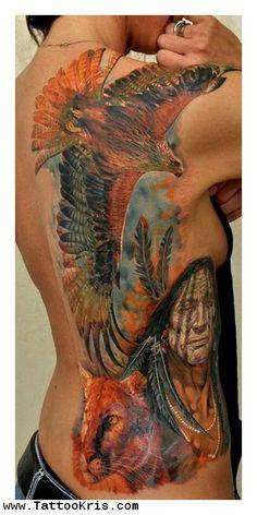 eye of the hawk tattoos | Native American Hawk Tattoos 1