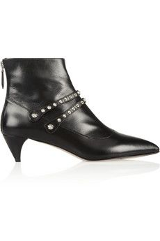 Miu Miu Studded leather ankle boots   NET-A-PORTER
