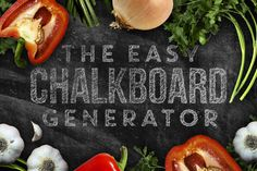 Chalkboard Generator by Designer Toolbox on @creativemarket