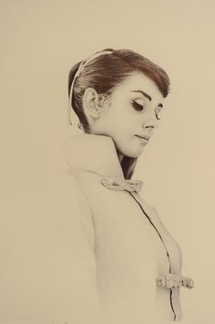 Biro artwork by James Mylne - Audrey Hepburn - wish I was in London to see this and other insane ballpoint pen portraits in James McIne's showing 'Vintage Vogue', at Rook & Raven Gallery, London! Ballpoint Pen Drawing, Vintage Vogue, Vintage Glamour, Illustrations And Posters, Fashion Illustrations, Love Art, Amazing Art, My Idol, Art Drawings