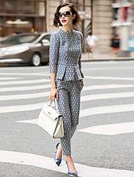 Women's New Fashion Causal Suit(Blouse&Pant) – USD $ 52.19