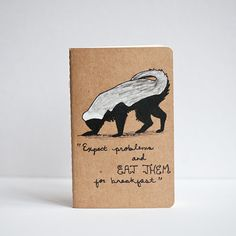 honey badger notebook from le animalé