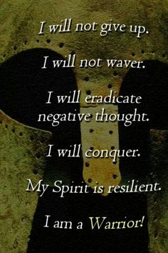 Spartan mindset.