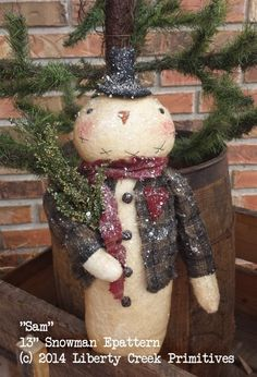 Primitive Sam Snowman Epattern $6.50, Liberty Creek Primitives patterns