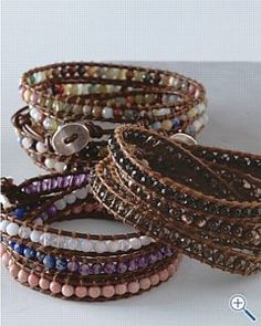 Waxed Irish Linen & Woven Cotton Cord   We teach two organic jewelry making techniques during this two hour class. Let us show you how to weave the beads of your choice onto Waxed Irish Linen & then create woven bracelets with beautiful glass beads and waxed cotton cord. Expect to work on two different bracelet designs during this class. All materials included. All levels welcome.