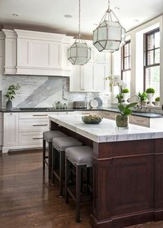 In interior design, it's important to think big: After all, in some projects you can't get everything you want, but you should set the bar high to achieve a great result. But in your dream kitchen, you can have it all — and more. Find your dream home at https://www.dongardner.com/. #WeDesignDreams