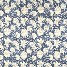 Belgrade Batik Flora Indigo by Ralph Lauren is a gorgeous jacobean floral drapery décor fabric. This fabric can be used for projects like valances, tote bags, chair cushions, and more. Colors include blue, ivory, white. Navy Fabric, Drapery Fabric, Floral Fabric, Fabric Decor, Denim Fabric, Painting Wallpaper, Fabric Wallpaper, Blue And White Living Room, Ralph Lauren Fabric