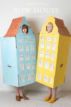 Copenhagen row house Halloween costume