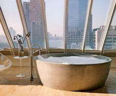 Hot bath with an amazing view sounds perfect right now.