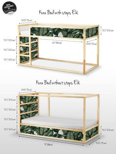Decals for Kura Bed Ikea Banana leaf Bed Sticker Set PACK