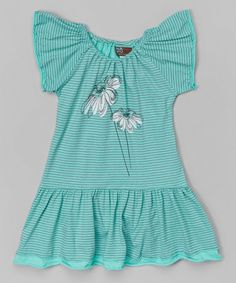Look at this Honeydew Stripe Angel-Sleeve Dress - Infant, Toddler & Girls by NANO Infant Toddler, Toddler Girls, Baby Girls, Hope Fashion, Angel Sleeve, Honeydew, Toddler Outfits, Toddlers, Gift Wrapping