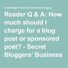 much should charge blog post
