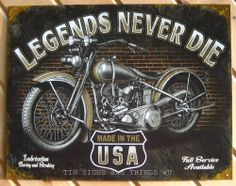 Last Stop Motorcycle Gasoline TIN SIGN vtg metal decor garage bar gas pump 1566
