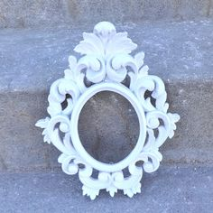 White ORNATE Wall Mirror French Provincial by melissap6908 on Etsy