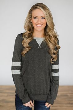 9402684aaf Addicted to You Long Sleeve Top - Charcoal