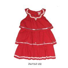 LoFff Trapeze dress Red White