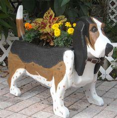 Basset Hound Planter Box-I want one!