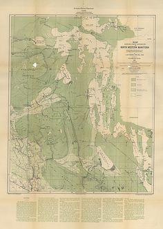 Map Showing Forest Distribution in North Western Manitoba and Portions of the Districts of Assinibaia and Saskatchewan (1891) by Manitoba Historical Maps, via Flickr
