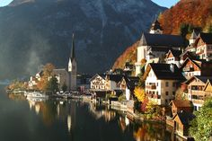 The village of Hallstatt, Upper Austria