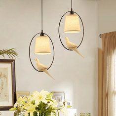 E14 moderne pendentif oiseau créative restaurant lumineux salon plafond de la chambre lustre luminaire