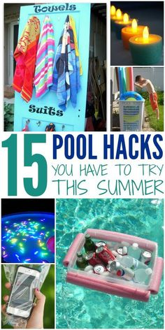 Fun Hacks You Have to Try This Summer Summer time hacks for when you're out by the pool. Super fun ways to enhance your pool time this summer!Summer time hacks for when you're out by the pool. Super fun ways to enhance your pool time this summer! Summer Fun, Summer Time, Summer Pool Party, Deck Party, Summer Ideas, Fun Ideas, Pool Diy, Diy Pool Toys, Pool Toys For Kids