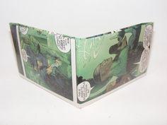 Comic Book Wallet// JLA// Faith, Major Disaster, Green Lantern John Stewart, and Flash (Wally West), $3.50