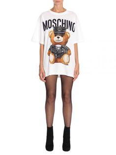MOSCHINO Bear Print T-Shirt. #moschino #cloth #topwear