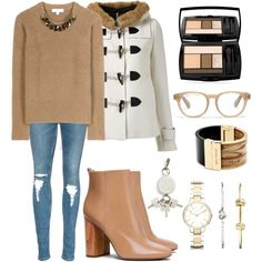 A fashion look from February 2016 featuring Burberry sweaters, Guild Prime coats and Tory Burch ankle booties. Browse and shop related looks.@elisa-toni