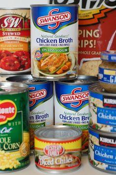 Simple three month supply food storage plan ;)